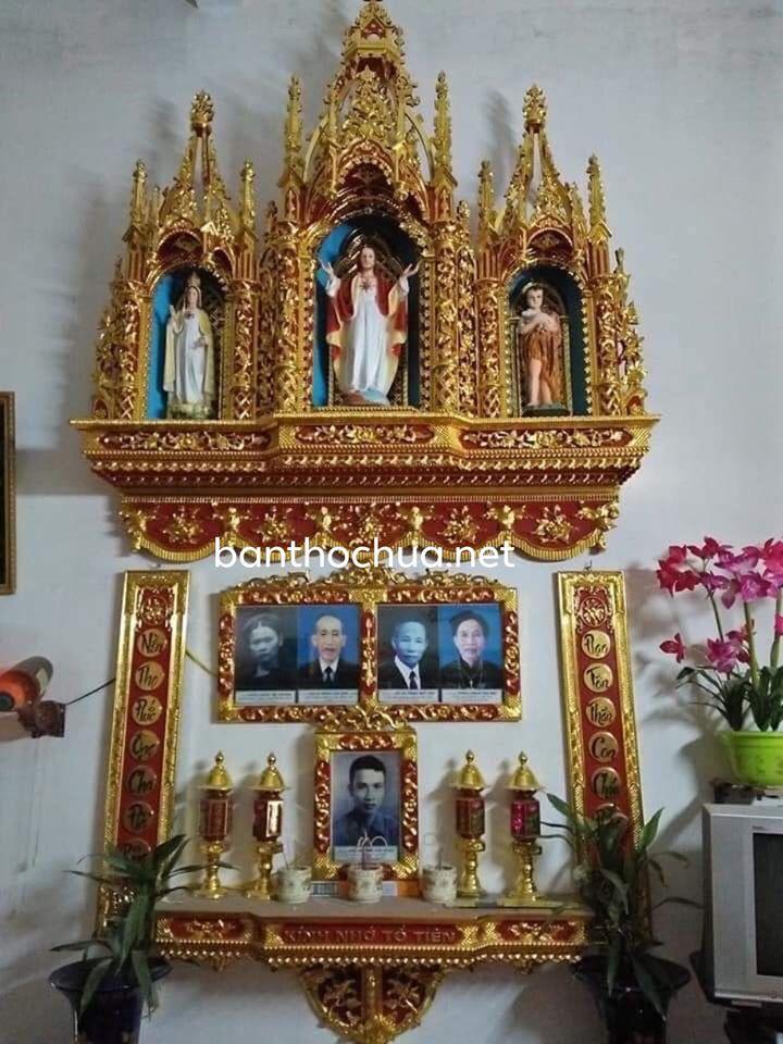 bàn thờ công giáo và bàn thờ gia tiên