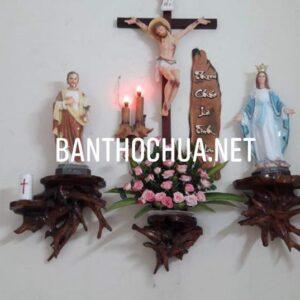 bàn thờ chúa bằng gỗ trai