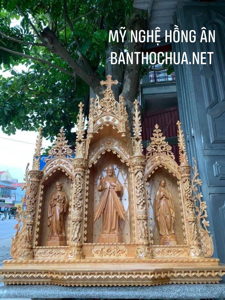 Mẫu Bàn Thờ Công Giáo Gỗ đẹp