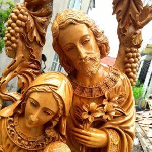 Tượng gỗ gia đình Thánh gia NT01