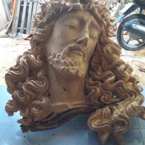 Tượng chân dung Chúa bằng gỗ nghệ thuật NT02