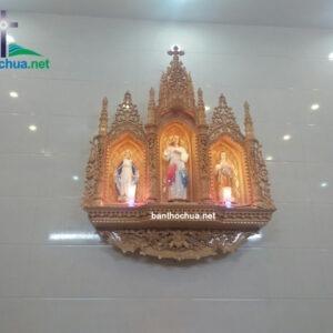 Tòa Gỗ Công Giáo Bằng Gỗ Pơmu Cao Cấp BT61
