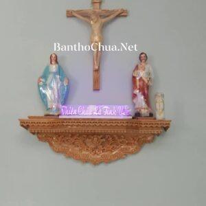 bàn thờ chúa bằng gỗ