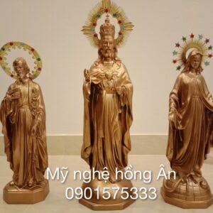 Bộ tượng để bàn thờ bằng đồng TĐ08