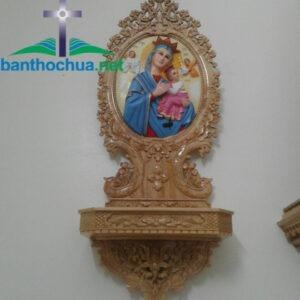 Bàn thờ Chúa bằng gỗ treo tường BT81