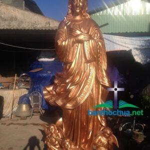 Tượng Đức Mẹ bằng đồng cao 3m