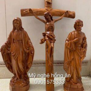 Bộ tượng Công Giáo bằng gỗ TC37
