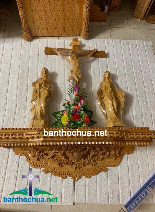 mẫu bàn thờ công giáo bằng gỗ