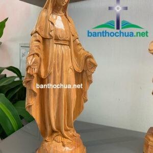 Tượng Đức Mẹ ban ơn gỗ pơ mu TC41