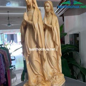 Tượng công giáo – Đức Mẹ lộ đức bằng gỗ TC42