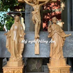 Bộ tượng thánh phêrô cầm chìa khóa TC62