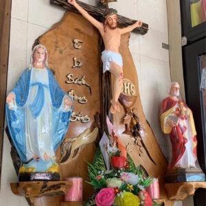 Bàn thờ Chúa gỗ nghệ thuật HA14