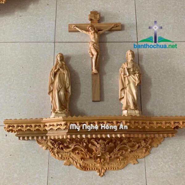 Kệ Bàn Thờ Công Giáo Gỗ